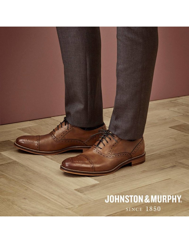 Johnston & Murphy Johnston & Murphy Conard Cap Toe Tan STH33107043