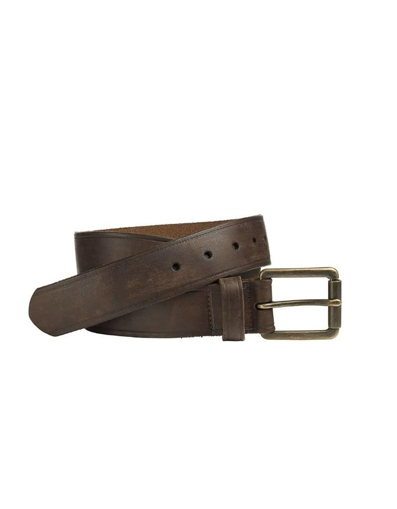 Johnston & Murphy CEN3300004  JOHNSTON & MURPHY BURNISHED ROLLER BUCKLE BROWN