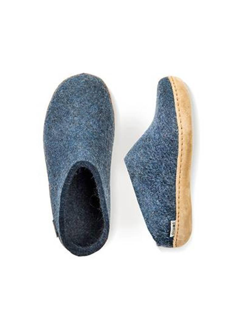 Glerups Glerups Slipper Leather Sole Denim PUU2300005