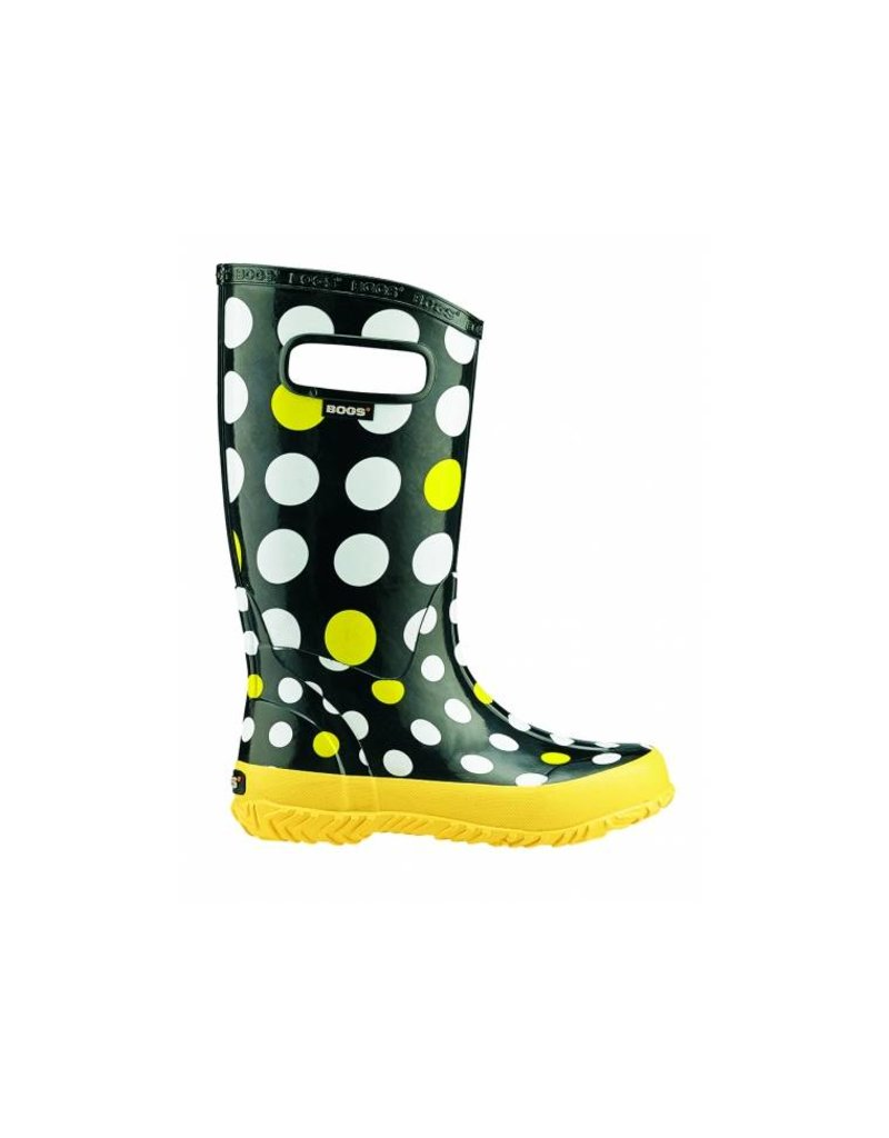 Bogs BPE13104799 BOGS DOTS 71452 009 BLACK & YELLOW
