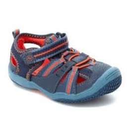 Stride Rite STRIDE RITE BABY RIFF BLUE & ORANGE