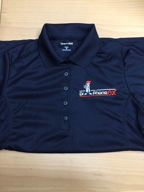 DPF Ladies Polo Shirts (XLarge) black