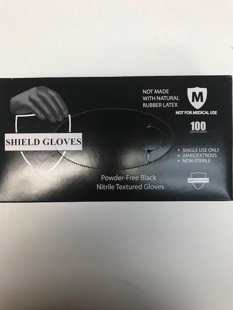 Power Free Gloves 100 per box (black)