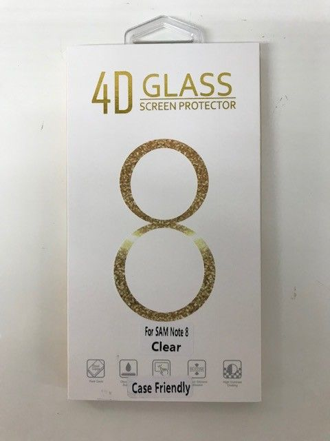 Note 8 Clear Case Friendly Tempered Glass