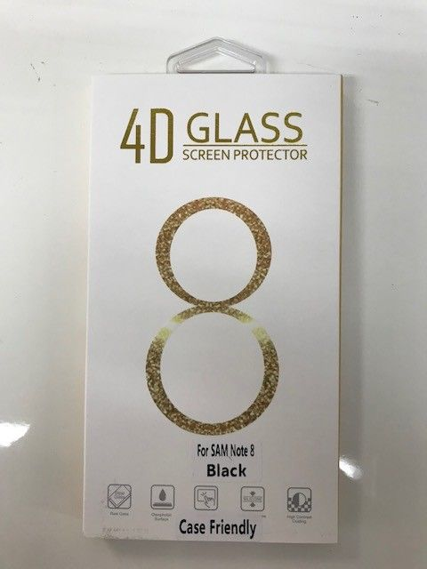 Note 8 Black Case Friendly Tempered Glass