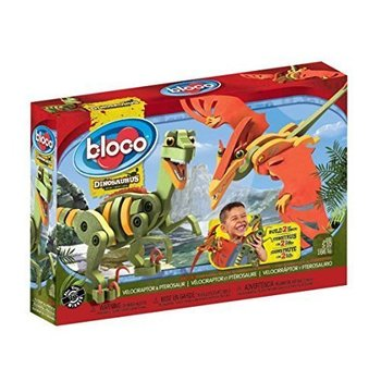 Bloco Bloco Dinosaurs Velociraptor & Pterosaur