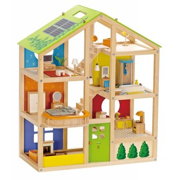 Hape Toys Hape Doll House All Seasoned Furnished
