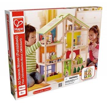 Hape Toys Hape All Season Doll House Furnished
