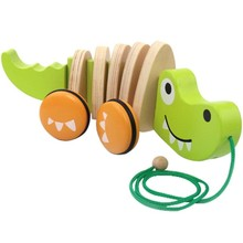 Hape Toys Hape Baby Walk-Along Crocodile