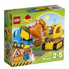 Lego Lego Duplo Town Truck & Tracked Excavator