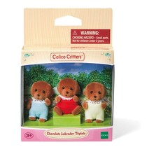 Calico Critters Calico Critters Triplets Chocolate Lab