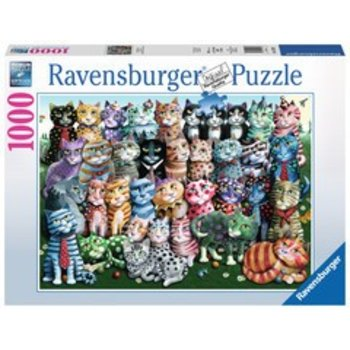 Ravensburger Ravensburger Puzzle 1000pc Cat Family Reunion