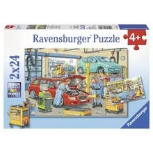 Ravensburger Ravensburger Puzzle 2x24pc Repair Shop & Gas Station