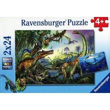 Ravensburger Ravensburger Puzzle 2x24pc Prehistoric Giants