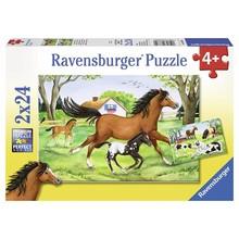 Ravensburger Ravensburger Puzzle 2x24pc World of Horses