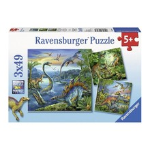 Ravensburger Ravensburger Puzzle 3x49pc Dinosaur Fascination