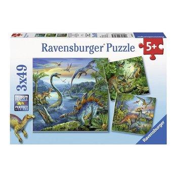 Ravensburger Ravensburger Puzzle 3x49pc Dinosaur Fascination