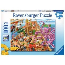 Ravensburger Ravensburger Puzzle 100pc Pirate Boat Adventure