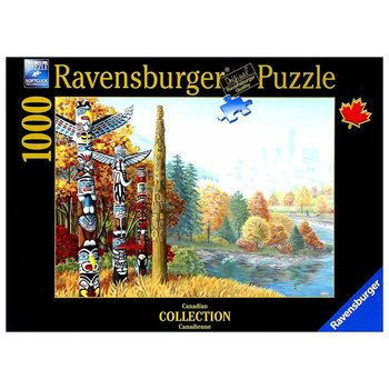 Ravensburger Puzzle 1000pc Canadian When 2 Worlds Collide