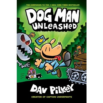 Scholastic Book Dog Man #2 Pilkey Unleashed