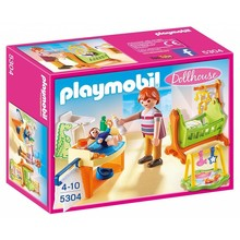 Playmobil Playmobil Dolhouse: Baby Room with Cradle