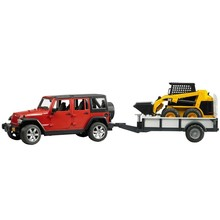 Bruder Bruder Jeep Wrangler with CAT Skid Steer