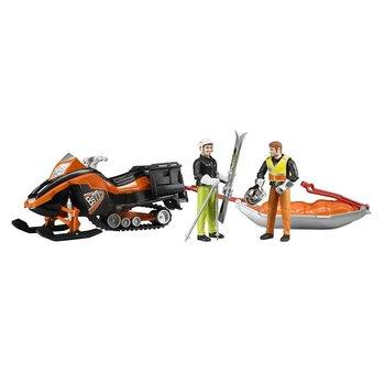 Bruder Bruder Snowmobile and Skier Sledge