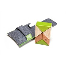 Tegu Tegu Magnetic Wooden Blocks Prism Pouch Jungle