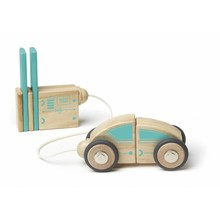 Tegu Tegu Magnetic Wooden Blocks Future Circuit Racers