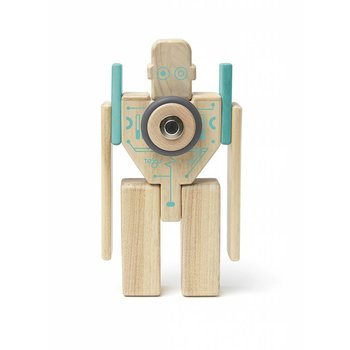 Tegu Tegu Magnetic Wooden Blocks MagBot