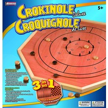 Crokinole Game 3 in 1 Deluxe Wooden Board Set