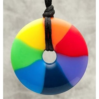 Teething Bling Teething Bling Pendant Rainbow