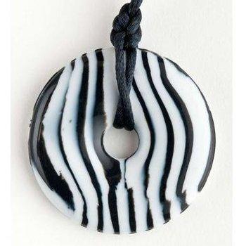 Teething Bling Teething Bling Pendant Zebra