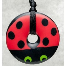 Teething Bling Teething Bling Pendant Ladybug