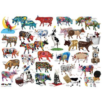 Cobble Hill Puzzles Cobble Hill Puzzle 1000pc Cow Parade