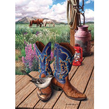 Cobble Hill Puzzles Cobble Hill Puzzle 1000pc Boots