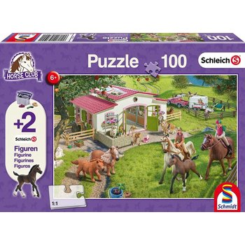 Schleich Puzzle & Figure 100pc Horseride into Countryside