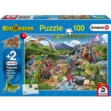 Schleich Puzzle & Figure 100pc Kingdom of Dinosaurs