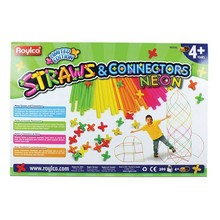 Roylco Straws & Connectors Neon 300pc
