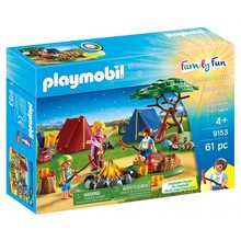 Playmobil Playmobil Family Camp Site with Fire