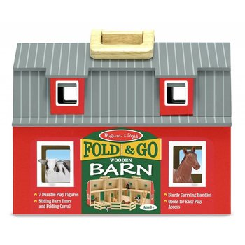Melissa & Doug Play Set Fold & Go Barn