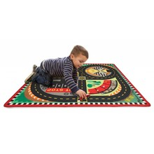 Melissa & Doug Melissa & Doug Road Rug Round the Racetrack