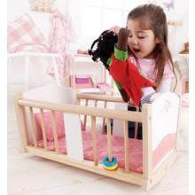 Hape Toys Hape Doll Furniture Wood Cradle