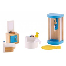 Hape Toys Hape Wooden Doll House Furniture: Bathroom