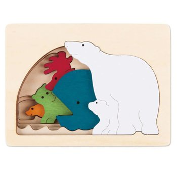 Hape Toys Puzzle George Luck 7PC 5 Layers Polar