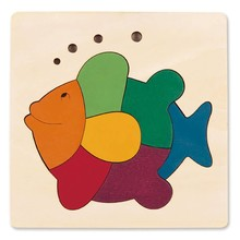 Hape Toys Hape Puzzle Single Layer George Luck 8PC Rainbow Fish