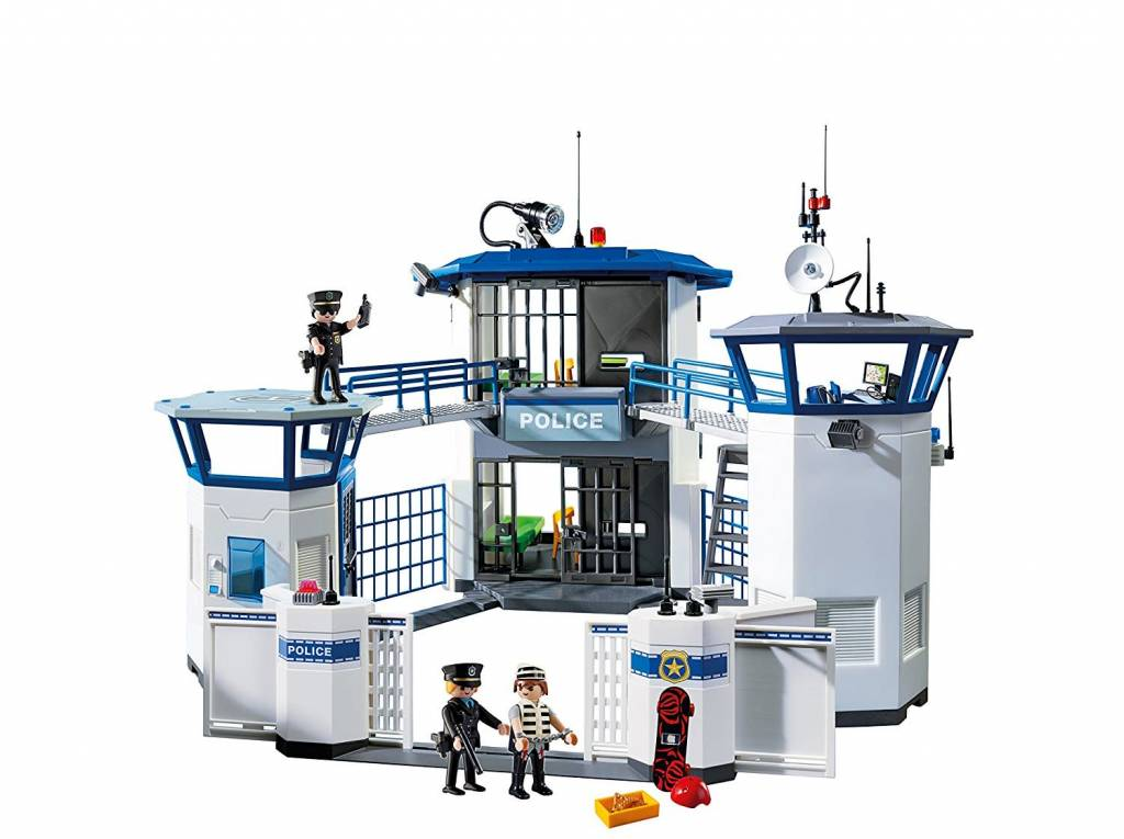 playmobil police headquarters with prison - Playmobile Police