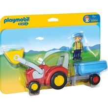 Playmobil Playmobil 123 Tractor with Trailer