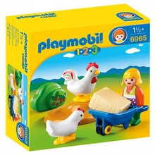 Playmobil Playmobil 123 Girl with Hens