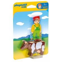 Playmobil Playmobil 123 Farmer with Cow